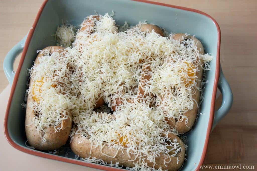 gruyere, Bread Eggs, Mushrooms. The perfect hole in one breakfast!