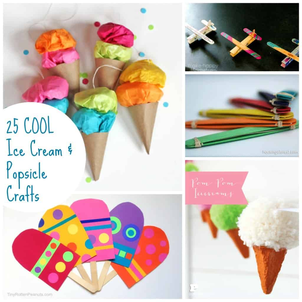 25 cool summer popsicle and ice cream crafts emma owl for Art and craft decoration ideas