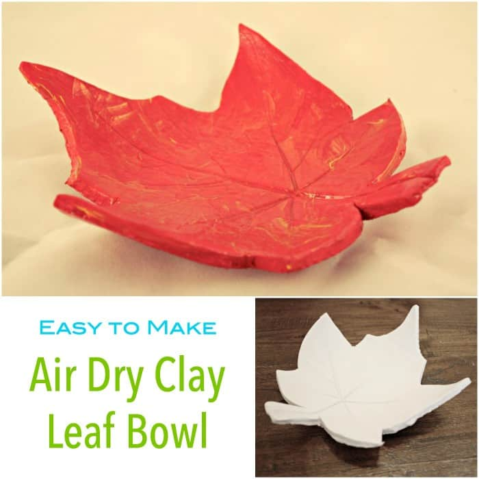 Easy to make Air Dry Clay Leaf Bowl