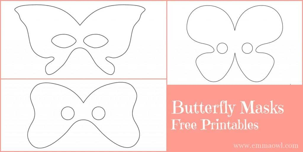 Free Printable butterfly masks. Great little craft activity