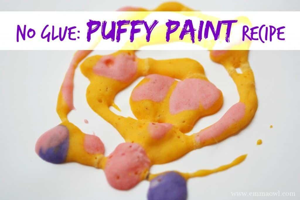 No Glue Puffy Paint Recipe