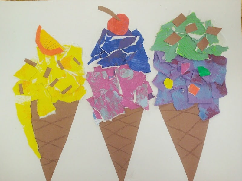 Childrens Ice Cream Craft