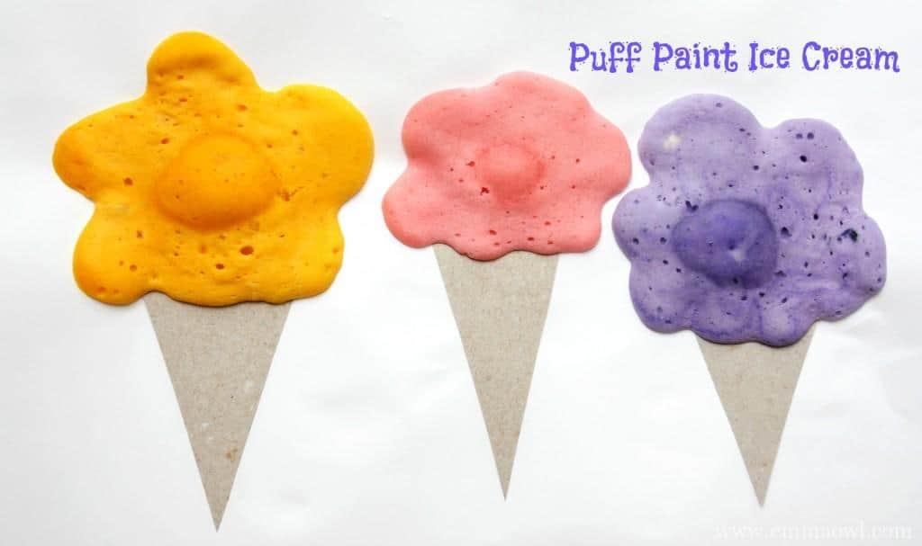 puff paint ice cream