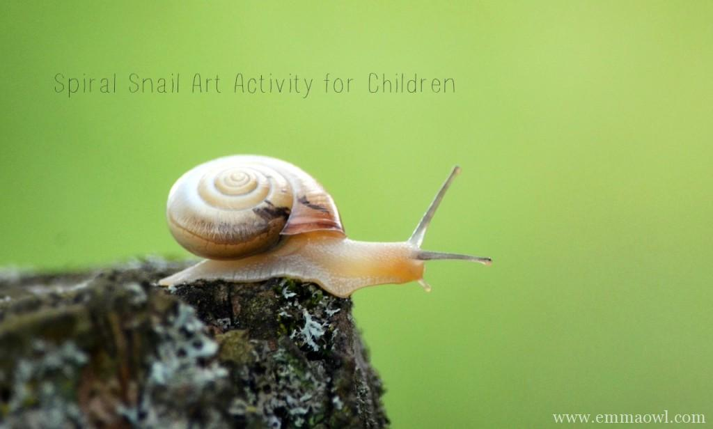 spiral snail art activity for children. cork dotted painting