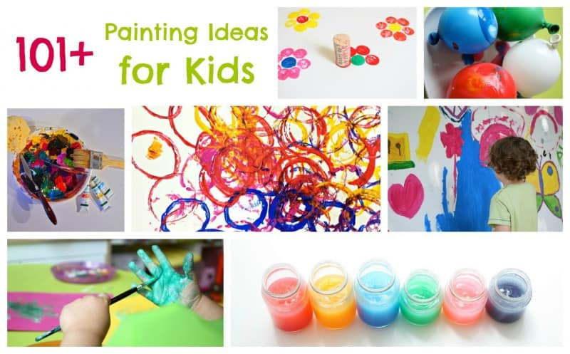 Paint a thon 2015 150 painting ideas for kids emma owl Fun painting ideas for toddlers