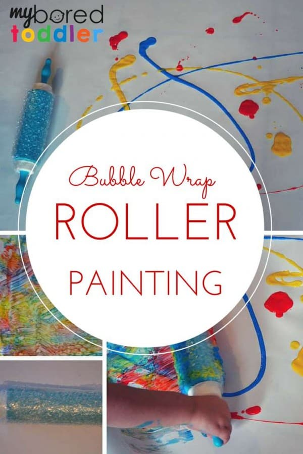 Bubble-wrap-roller-painting-pinterest