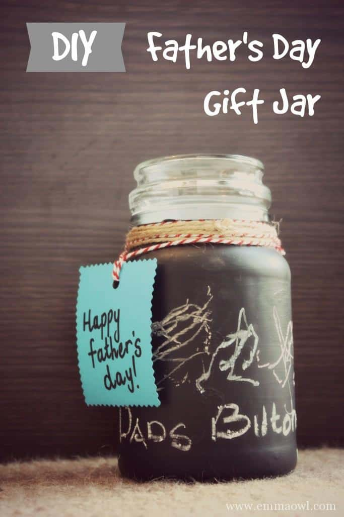 DIY Fathers day gift jar