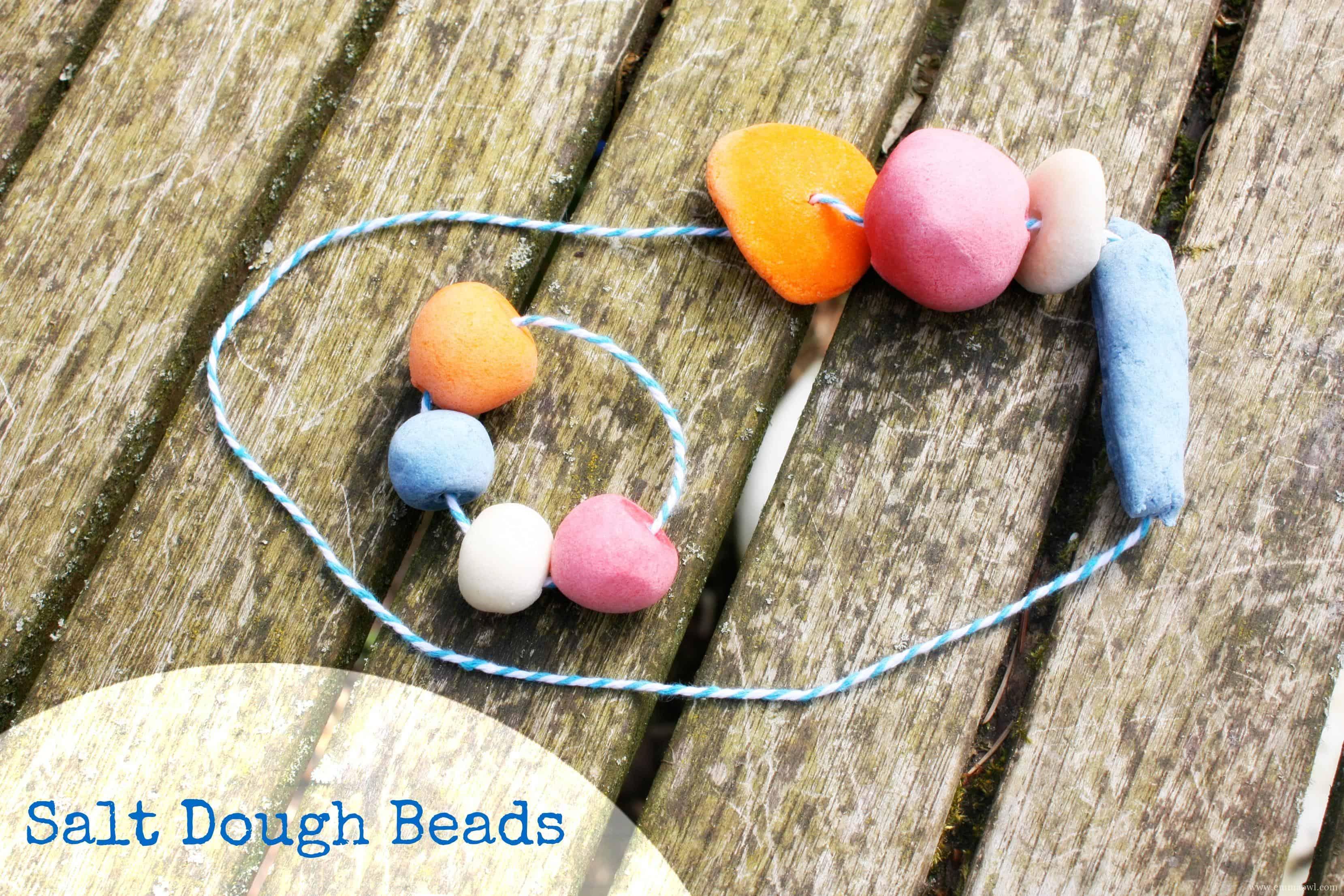 DIY Salt Dough Beads. This is a fantastic kids activity