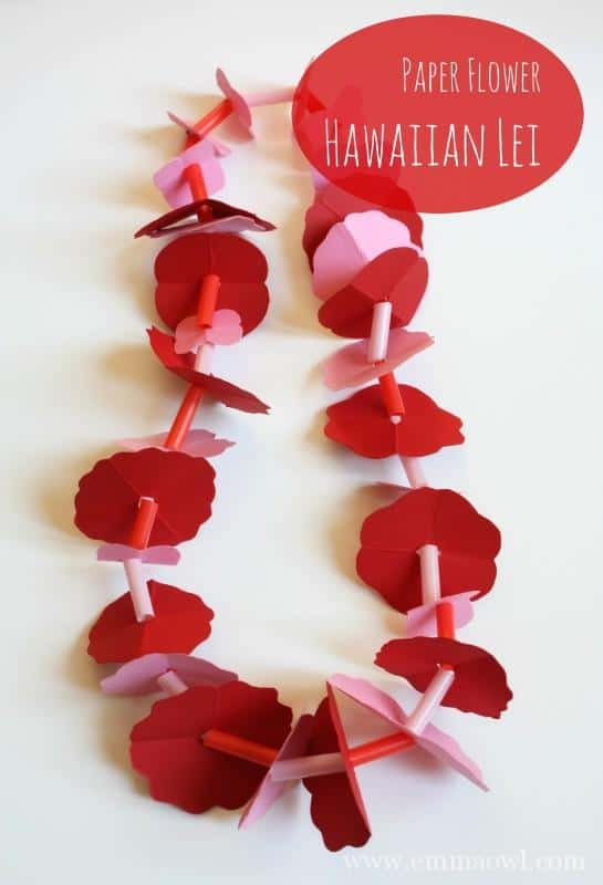 Paper Flower Hawaiian Lei