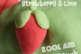 Strawberry and Lime Kool Aid Play Dough