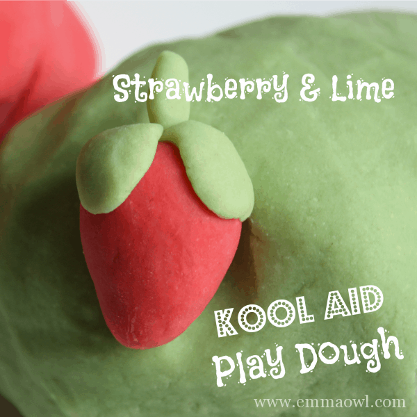 Play Dough - No Cook - Made with Kool Aid