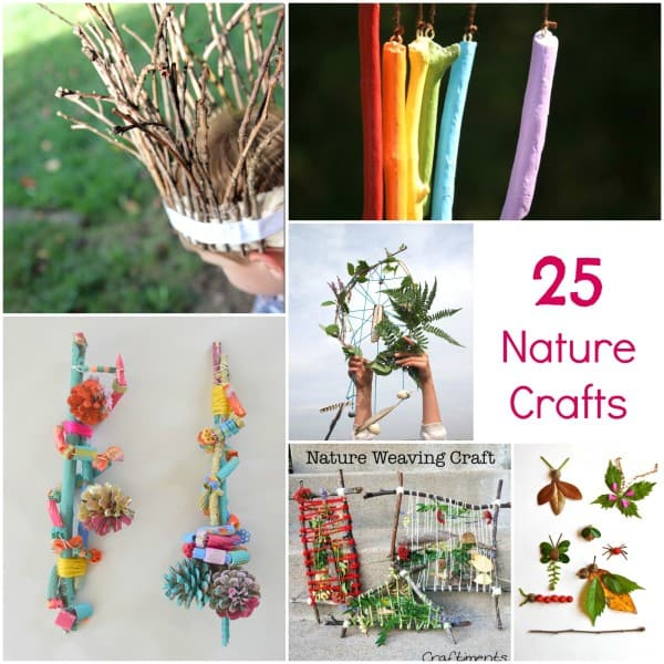 25 of the best outdoor nature art crafts emma owl for Summer camp arts and crafts projects