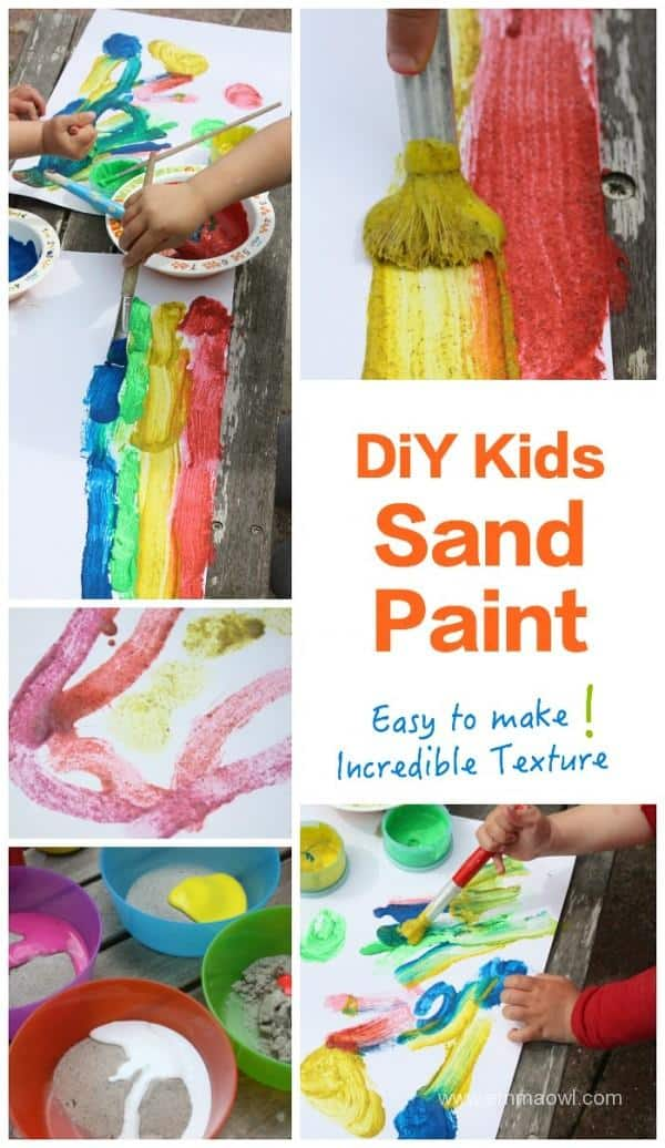 SAND PAINT - easy to make and so interesting to paint with! Kids will love this art activity and the result is spectacular!