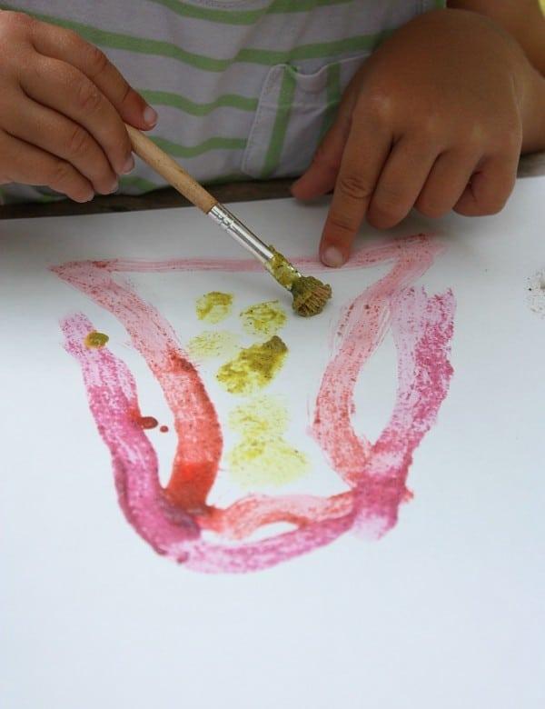 Sand Paint - summer painting fun