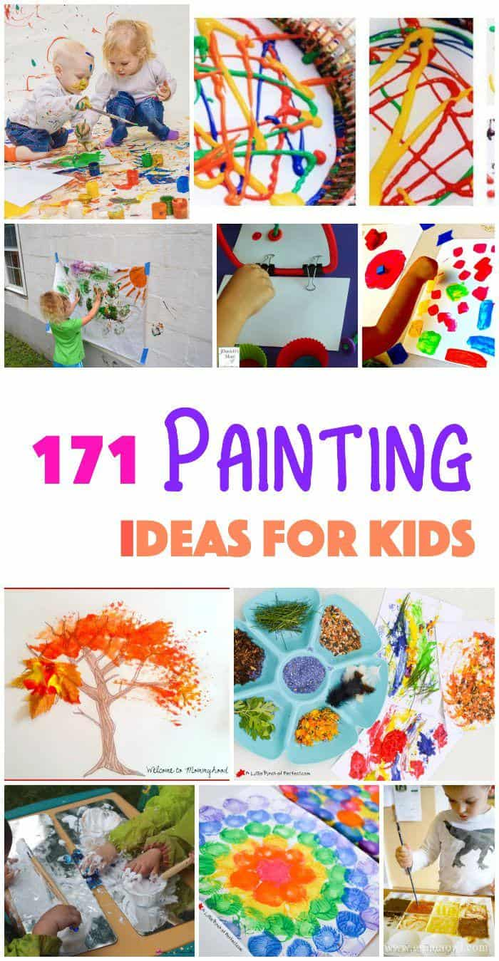 171 painting ideas techniques and projects for kids for Canvas art ideas for kids