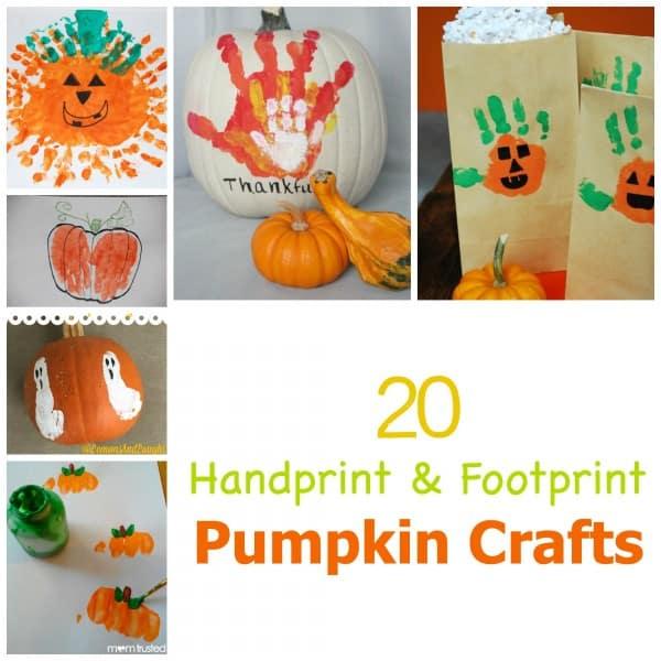 20 Hand and Footprint Pumpkin Crafts