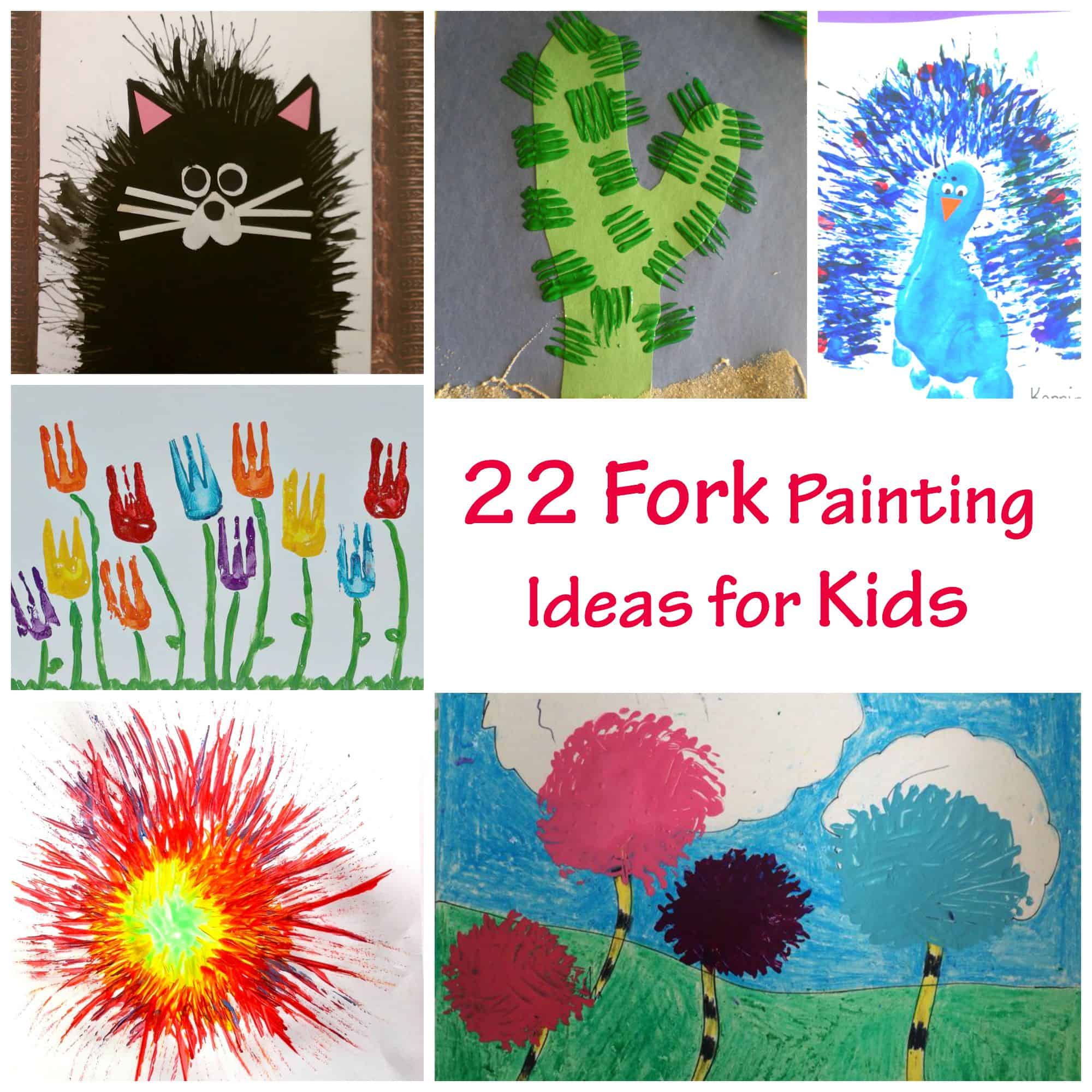 22 fork painting ideas for kids emma owl Fun painting ideas for toddlers