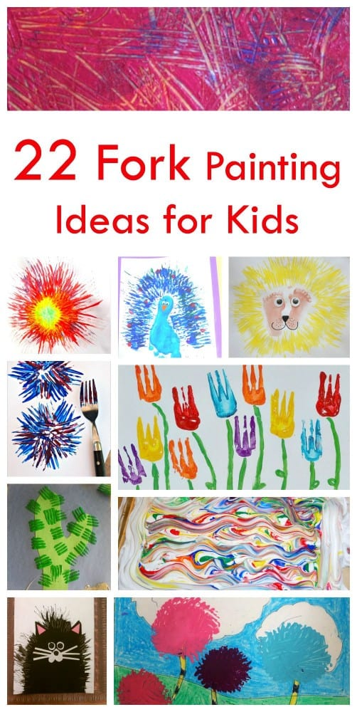 22 fork painting ideas for kids emma owl