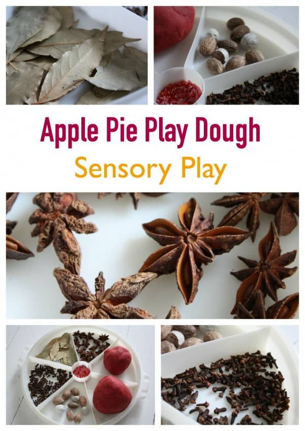 Apple Pie Play Dough Sensory Play for Kids
