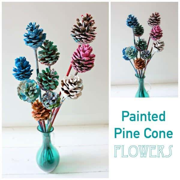 Beautiful Painted Pine Cone Flowers