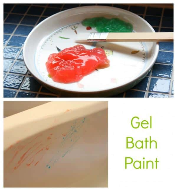 Gel paint makes the best bath paint. Easy to make and so much fun to paint with.