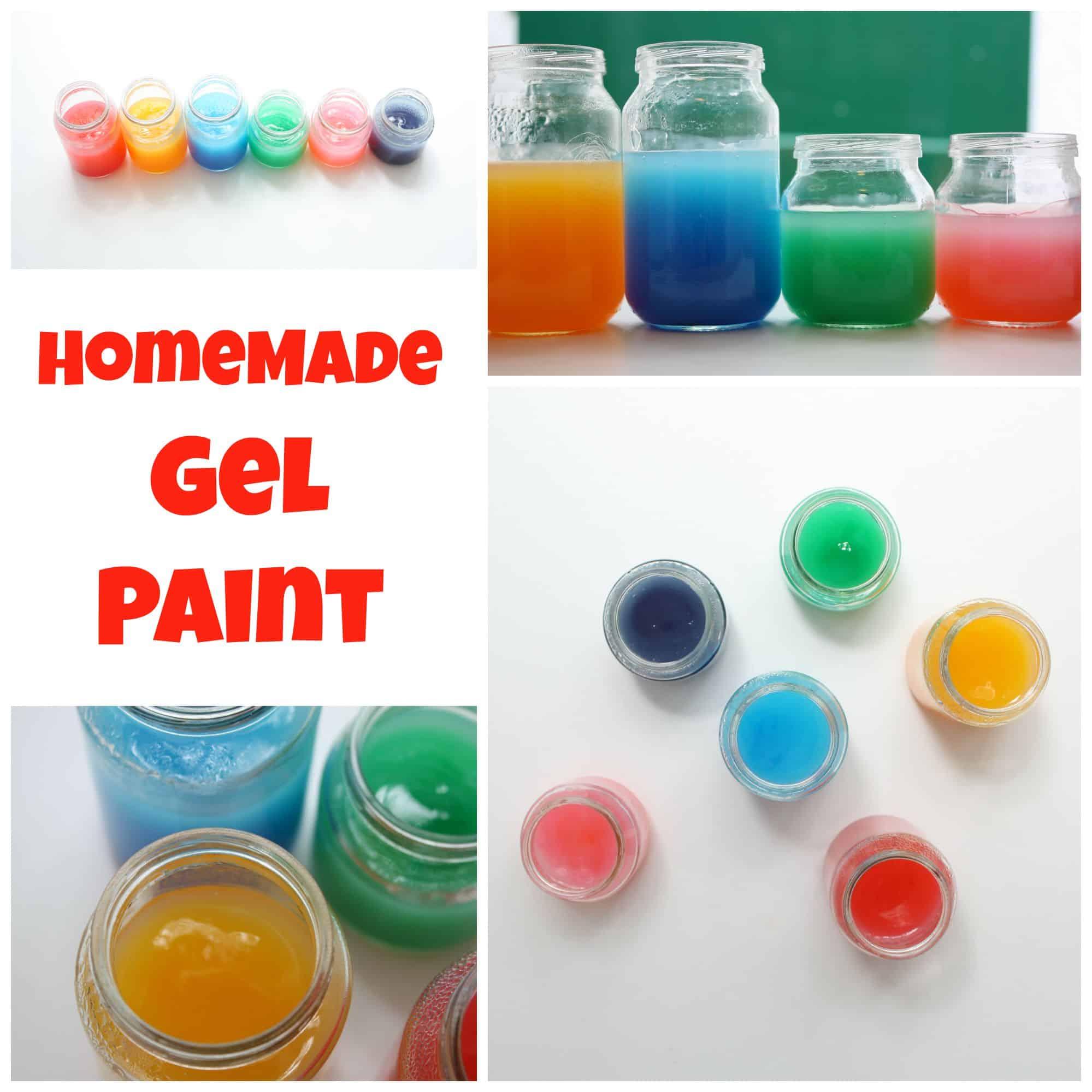 Homemade Gel Paints - Emma Owl