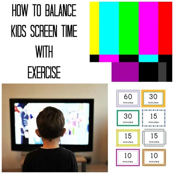 How to balance kids screen time with exercise
