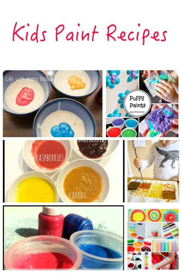 Kids Paint Recipes - all you need for a year full of painting!