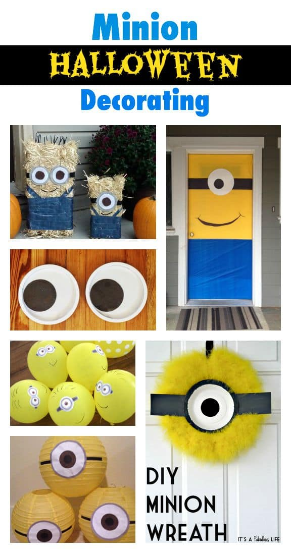 Minion Halloween Decorating Ideas - for your front door and front porch