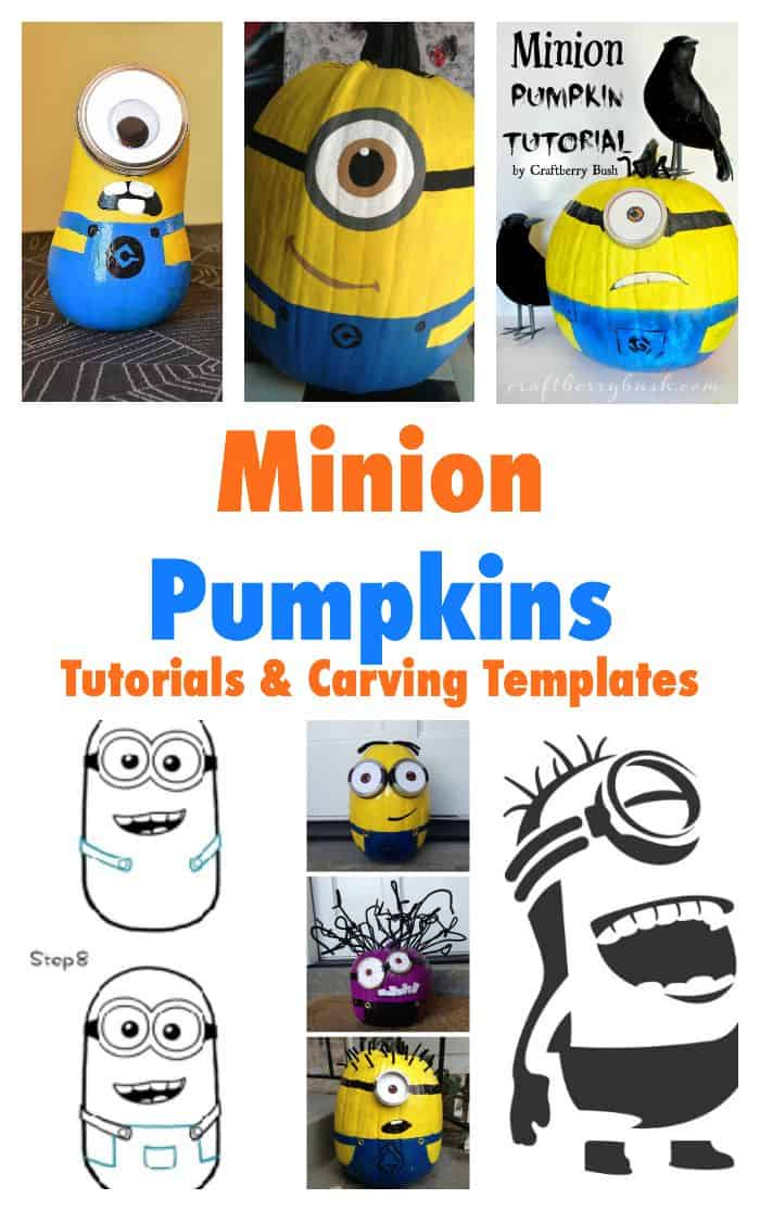 Minion Pumpkin Ideas for Halloween and Fall - plus how to draw a minion guide and free printable carving templates