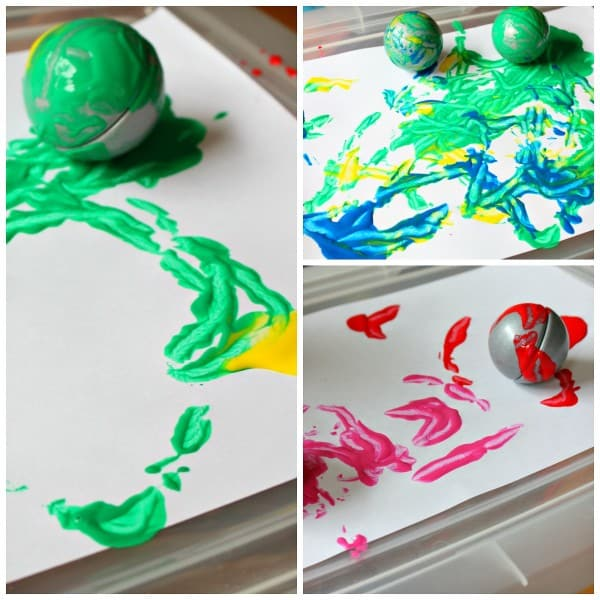 Painting with Magnets - Interesting Kids Art Activity