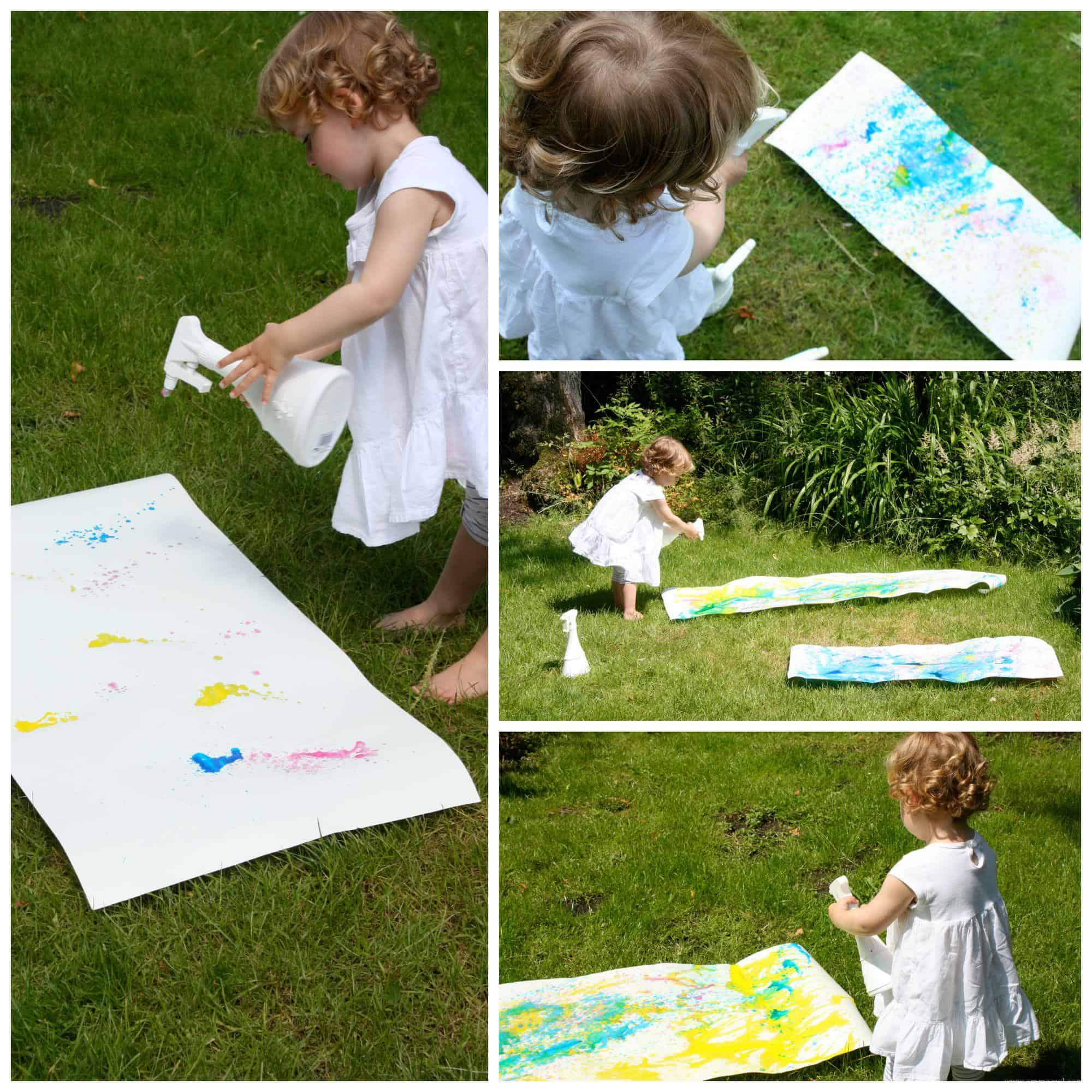 Spray Painting Art Activity for Kids. Process Art is always fun and full of experimentation and learning.