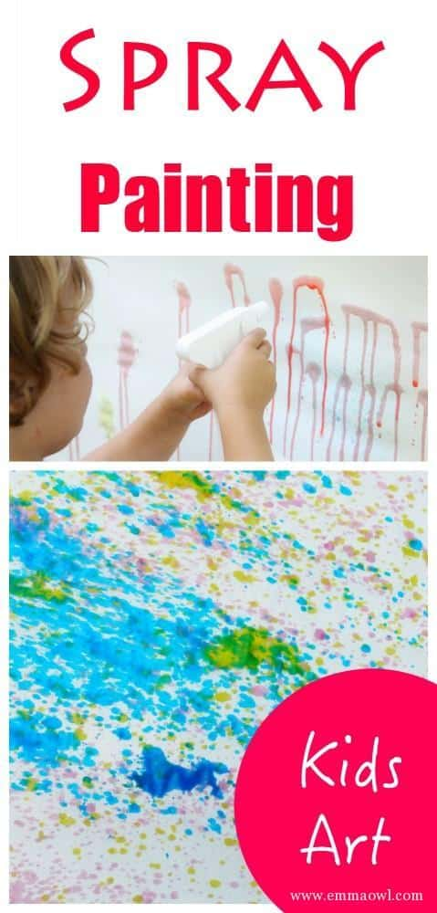Spray Painting Kids Activity. This is a great outdoor process art activity for children of all ages. Fantastic results