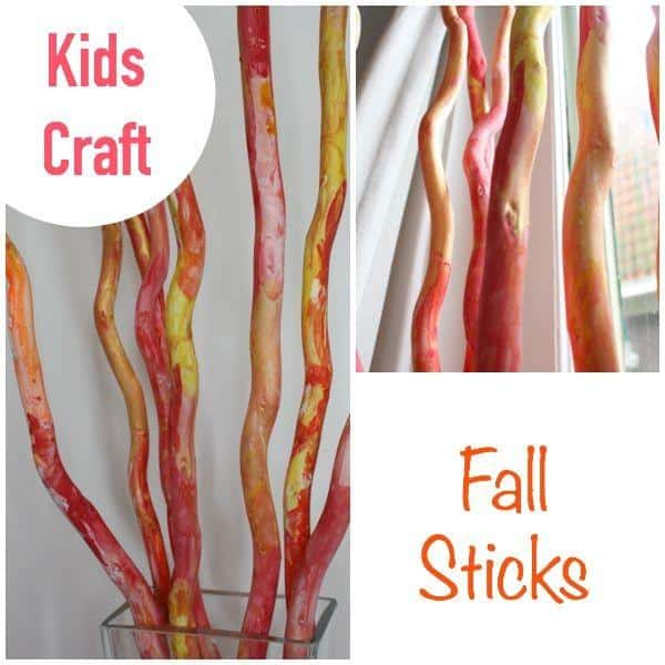 Fall Sticks - great kids autumn - fall craft project