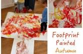 Big Kids Art: Footprint Painted Autumn – Fall Tree