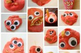 Pretend Play: Play Dough and Pasta Monsters