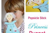 Pretend Play: Princess Popsicle Stick Puppets