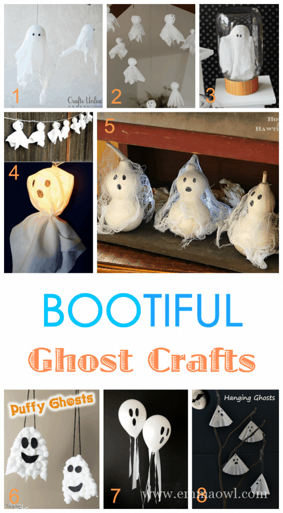 30 BOOTIFUL Ghost Craft and Decorations for Kids to Make for Halloween!