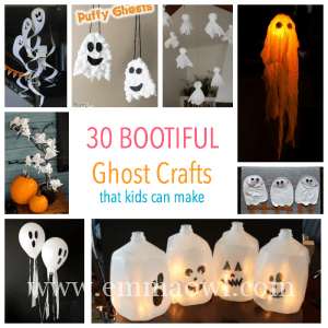Bootiful Kids Ghost Art And Craft For Halloween Emma Owl