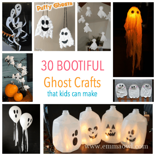 30 Bootiful Ghost crafts that kids can make