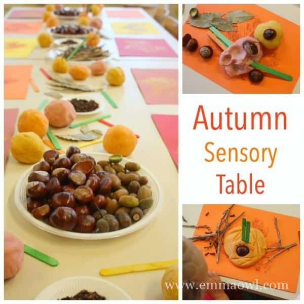 Autumn Sensory Table for Children