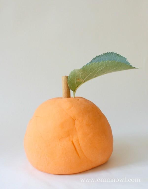 Easy to make Orange Scented Play Dough - Will last for months!