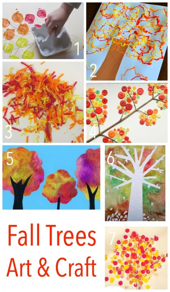 Fun - Exciting - Clever and Interesting ways to make Autumn Trees this Fall. Fantastic Childrens Art and Craft.