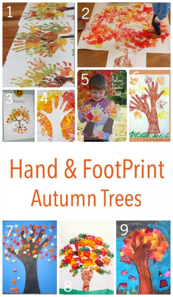 The best hand and footprint autumn tree ideas around!