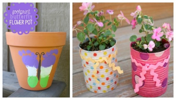 Child made gifts - plant pots