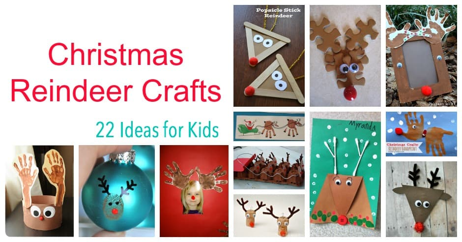 Christmas Reindeer Craft for Kids - Emma Owl