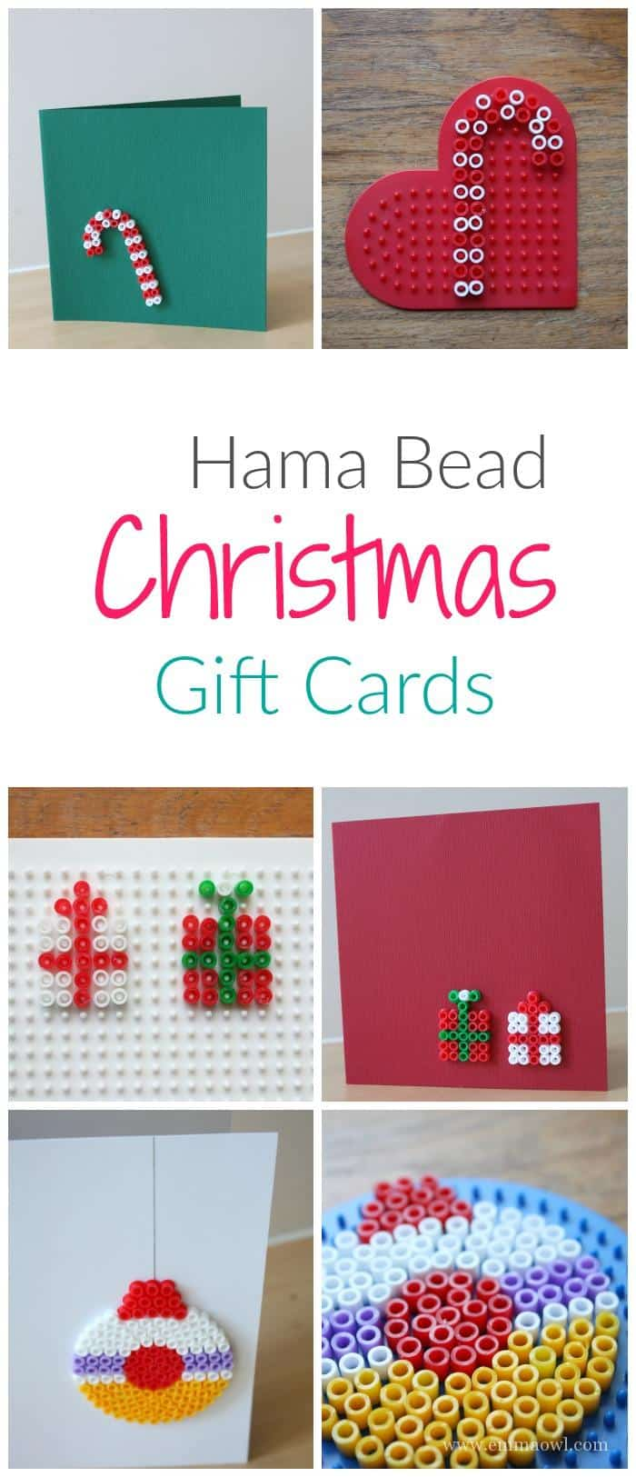 Easy To Make Diy Christmas Greeting Cards Great Hama Bead Craft