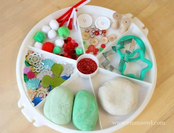 Invitation to Play with Christmas PlayDough