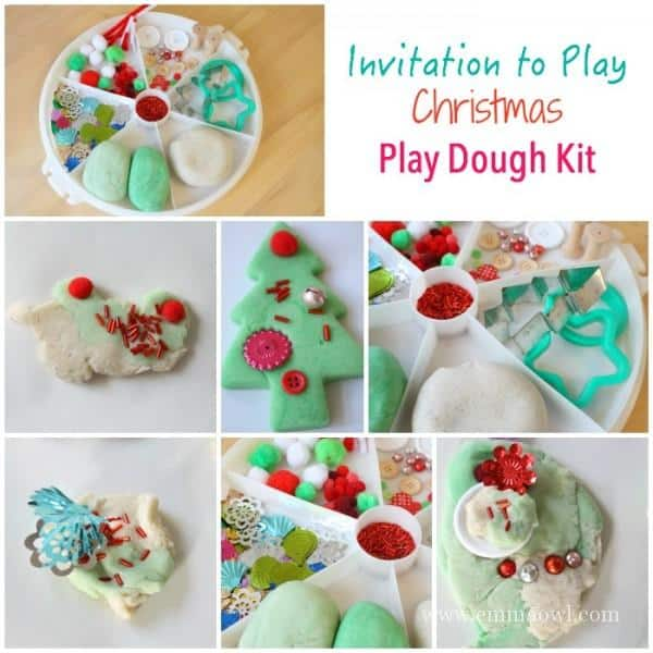 Invitation to play - Christmas Play Dough Kit