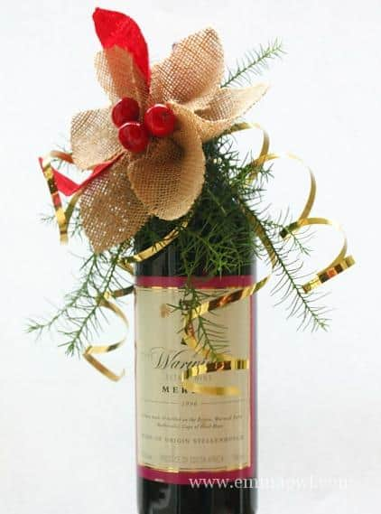 Poinsettia from Burlap